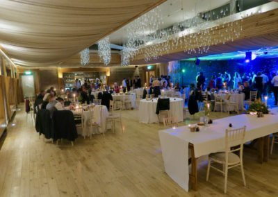 Great reception space and purpose made dance floor party area